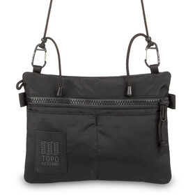 Topo Designs Carabiner Shoulder Accessory Bag, black/black